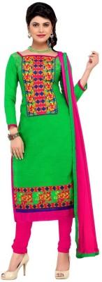 Krizel Trendz Chanderi Embroidered Salwar Suit Dupatta Material