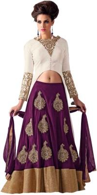 D4d Embroidered Women's Lehenga, Choli and Dupatta Set