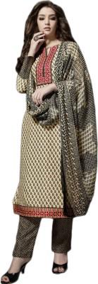 Justchic Pashmina Embroidered Salwar Suit Dupatta Material