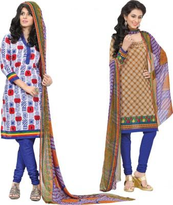 Inaaya Collections Cotton Printed Salwar Suit Dupatta Material