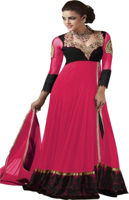 Blue Nile Retail Net Embroidered Semi-stitched Salwar Suit Dupatta Material