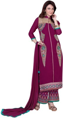 Price Bet Georgette Embroidered Salwar Suit Dupatta Material