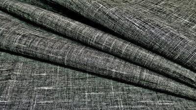 Selection Indigo Cotton Linen Blend Self Design Trouser Fabric