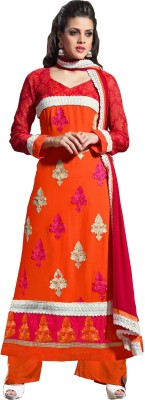 Shop on Bit Georgette Self Design Semi-stitched Salwar Suit Dupatta Material