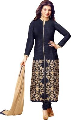 Gopalvilla Georgette Embroidered Semi-stitched Salwar Suit Dupatta Material