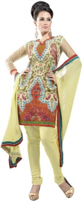 Aagamanfashion Synthetic Georgette Self Design Semi-stitched Salwar Suit Dupatta Material