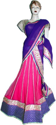 Divya Fashion Designers Net, Georgette Embroidered Lehenga Choli Material