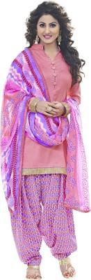 Ganga Fashion Satin, Cotton Printed Semi-stitched Salwar Suit Dupatta Material