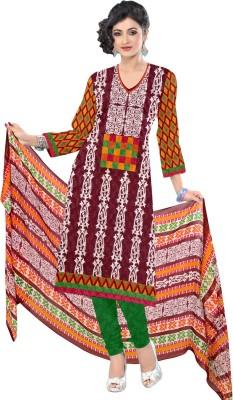 Saara Cotton Printed Dress/Top Material