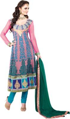 Vishal Net Solid Semi-stitched Salwar Suit Dupatta Material