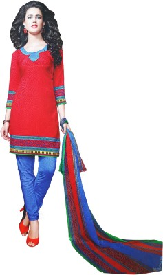 LolyDoll Synthetic Printed Dress/Top Material, Salwar Suit Material, Salwar Suit Dupatta Material