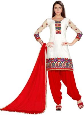 Radhe Studio Cotton Embroidered Salwar Suit Dupatta Material
