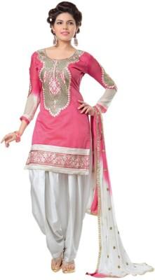 Ami Varsha Fashion Chanderi Embroidered Salwar Suit Dupatta Material