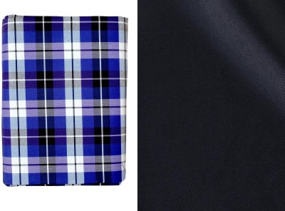 SAHYOG Synthetic Checkered, Solid Shirt & Trouser Fabric(Un-stitched)