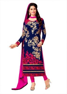 Fashion Spot Georgette Printed Semi-stitched Salwar Suit Dupatta Material