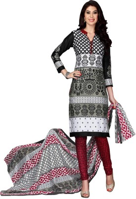 Shyam Creation9 Cotton Printed Salwar Suit Dupatta Material