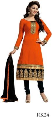 Vistara Lifestyle Chanderi Embroidered Salwar Suit Dupatta Material
