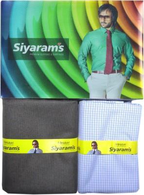 Siyarams Polyester, Viscose Checkered Shirt & Trouser Fabric
