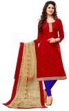 Navya Chanderi Embroidered Semi-stitched...