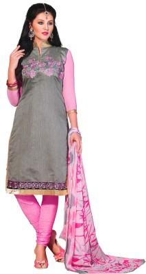 SGC Chanderi Embroidered Salwar Suit Dupatta Material