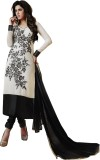 Style Mania Georgette Embroidered Semi-s...