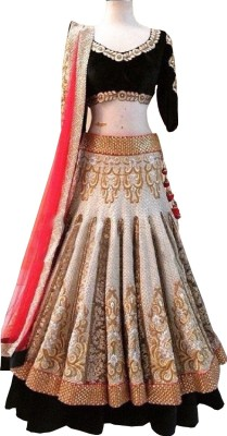 Nandani Fashion Velvet Embroidered Lehenga Choli Material