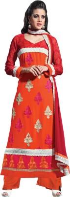 Saara Georgette Embroidered Dress/Top Material