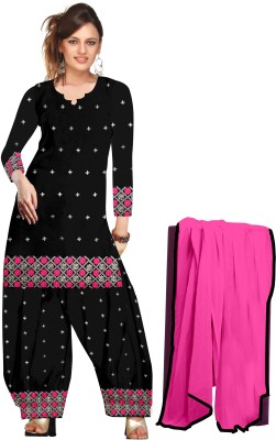 Demand Unlimited Cotton Embroidered Semi-stitched Salwar Suit Dupatta Material
