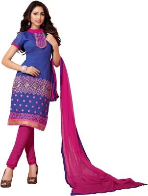 Li Te Ra Chanderi Embroidered Salwar Suit Dupatta Material