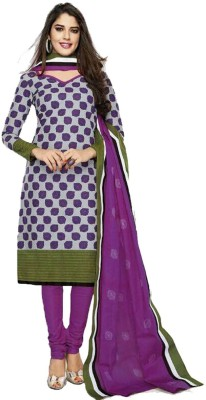 Party Wear Dresses Cotton Printed Semi-stitched Salwar Suit Dupatta Material