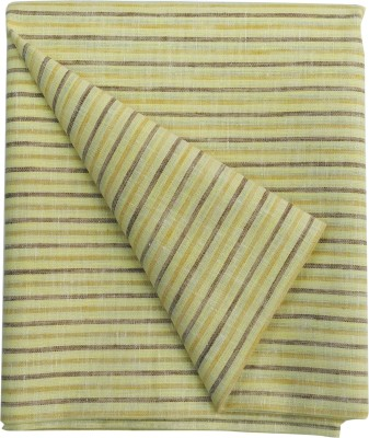 Selection Indigo Cotton Linen Blend Striped Shirt Fabric