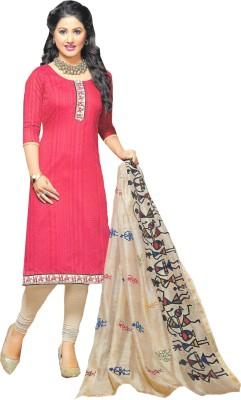 Banjaraindia Cotton Silk Blend Embroidered Salwar Suit Material