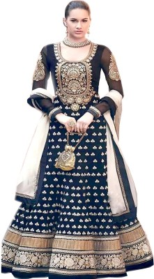 Shayona Enterprise Georgette Self Design Semi-stitched Salwar Suit Dupatta Material