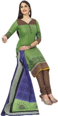 Heena's collection Cotton Printed Salwar Suit Dupatta Material