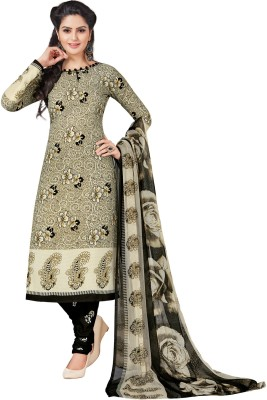 Salwar Studio Synthetic Floral Print, Paisley Salwar Suit Dupatta Material