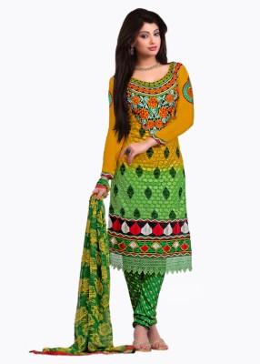Traditional 2 Trendy Georgette Self Design Salwar Suit Dupatta Material