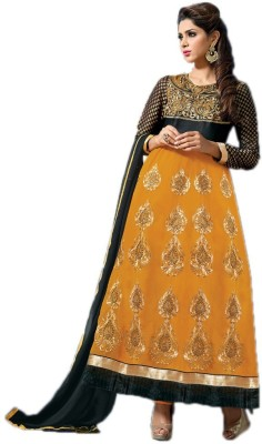 Royal N Rich Georgette Embroidered Semi-stitched Salwar Suit Dupatta Material