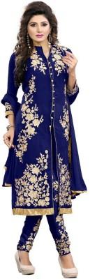 Leewodeal Georgette Self Design Semi-stitched Salwar Suit Dupatta Material