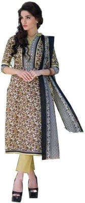 The Ethnic Wadrobe Cotton Printed Salwar Suit Dupatta Material