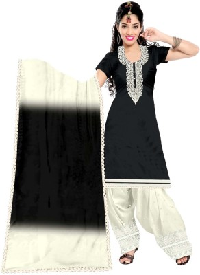 Dk Fab Cotton Embroidered Salwar Suit Dupatta Material