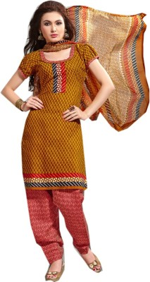F3 Fashion Cotton Printed Salwar Suit Dupatta Material