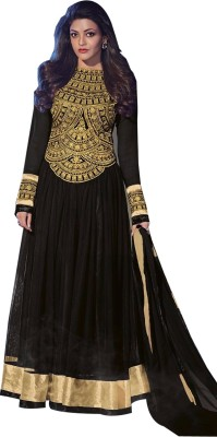 The Fashion World Net Embroidered Semi-stitched Salwar Suit Dupatta Material