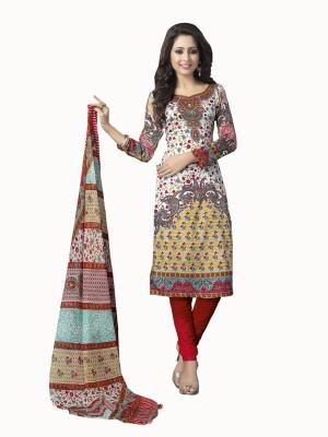 Awesome Cotton, Satin Self Design Salwar Suit Dupatta Material