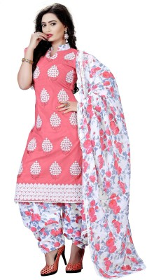 Fabviva Cotton Embroidered Dress/Top Material