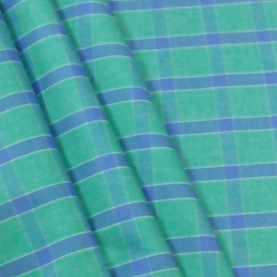 Fashion Foreplus Cotton Polyester Blend Checkered Shirt Fabric
