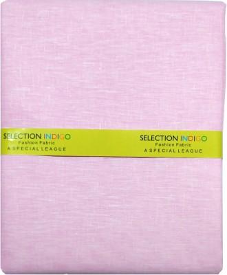 Selection Indigo Cotton Linen Blend Solid Shirt Fabric