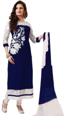 Tinu Enterprise Cotton Embroidered Semi-stitched Salwar Suit Dupatta Material