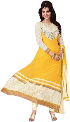 Ipshita Traders Georgette Embroidered Semi-stitched Salwar Suit Dupatta Material