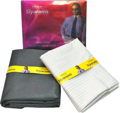 Siyarams Cotton Polyester Blend Striped Shirt & Trouser Fabric