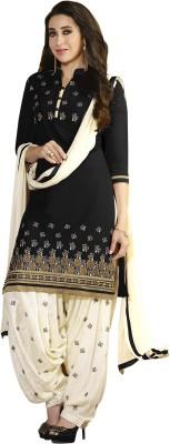 Aashvi Creation Cotton Embroidered Salwar Suit Dupatta Material